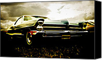 Custom Automobile Canvas Prints - 1965 Pontiac Bonneville Canvas Print by Phil