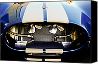 Automotive Photography Canvas Prints - 1965 Shelby Cobra Grille Canvas Print by Jill Reger