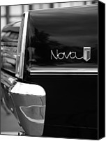 Old Digital Art Canvas Prints - 1966 Chevy Nova II Canvas Print by Gordon Dean II