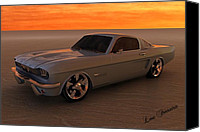 Louis Ferreira Art Canvas Prints - 1966 Mustang Fastback Canvas Print by Louis Ferreira