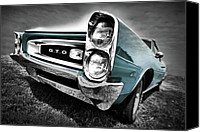 Teal Canvas Prints - 1966 Pontiac GTO Canvas Print by Gordon Dean II