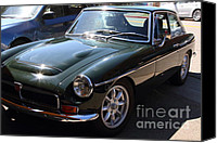 British Cars Canvas Prints - 1967 British Racing Green MGC . 7d15904 Canvas Print by Wingsdomain Art and Photography