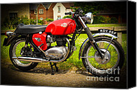 Bsa Canvas Prints - 1967 BSA Spitfire Canvas Print by Rene Triay Photography