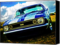 Custom Automobile Canvas Prints - 1967 Chevrolet Camaro SS Canvas Print by Phil