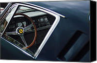 Vehicles Canvas Prints - 1967 Ferrari 275 GTB-4 Berlinetta Canvas Print by Jill Reger