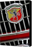 2011 Canvas Prints - 1967 Fiat Abarth 1000 OTR Emblem Canvas Print by Jill Reger