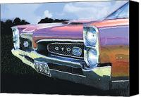 Gto Painting Canvas Prints - 1967 Gto Canvas Print by Rod Seel