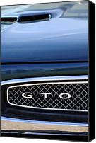 Gto Canvas Prints - 1967 Pontiac GTO Grille Emblem Canvas Print by Jill Reger