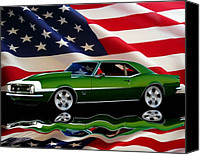 Bumpers Canvas Prints - 1968 Camaro Tribute Canvas Print by Peter Piatt