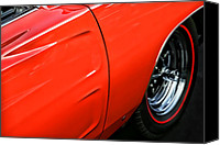 Fender Digital Art Canvas Prints - 1969 Dodge Charger RT Canvas Print by Gordon Dean II