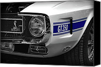 Boss Digital Art Canvas Prints - 1969 Ford Mustang Shelby GT350 1970 Canvas Print by Gordon Dean II