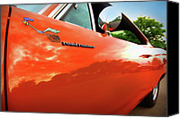 Dean Canvas Prints - 1969 Plymouth Road Runner 440 Roadrunner Canvas Print by Gordon Dean II