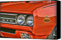 Fender Digital Art Canvas Prints - 1969 Pontiac GTO The Judge Canvas Print by Gordon Dean II