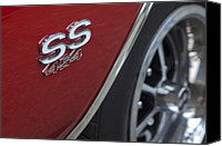 1970 Canvas Prints - 1970 Chevrolet Chevelle SS 454 Emblem Canvas Print by Jill Reger