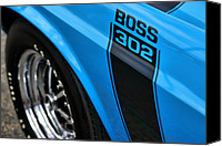 Boss Digital Art Canvas Prints - 1970 Ford Mustang Boss 302 Canvas Print by Gordon Dean II