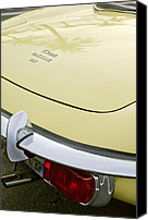 1970 Canvas Prints - 1970 Jaguar XK Type-E Taillight Canvas Print by Jill Reger