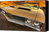 1969 Canvas Prints - 1970 Oldsmobile 442 W-30 Canvas Print by Gordon Dean II