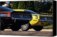 1969 Canvas Prints - 1970 Plymouth Cuda 440 and HEMI Canvas Print by Gordon Dean II