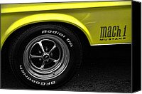 1969 Canvas Prints - 1971 Ford Mustang Mach 1 Canvas Print by Gordon Dean II