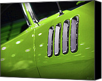 1969 Canvas Prints - 1971 Plymouth Cuda Fender Gills Canvas Print by Gordon Dean II