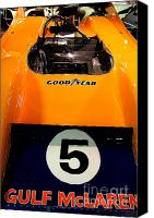 British Cars Canvas Prints - 1972 McLaren M20 Can-Am Race Car Canvas Print by Wingsdomain Art and Photography