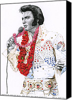 Elvis Canvas Prints - 1973 Aloha Bald Headed Eagle Suit Canvas Print by Rob De Vries