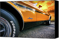 Boss Digital Art Canvas Prints - 1973 Ford Mustang Canvas Print by Gordon Dean II