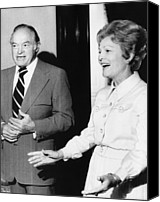 First Lady Canvas Prints - 1973 Us Presidency.  Bob Hope And First Canvas Print by Everett