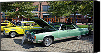 Display Cars Canvas Prints - 1974 Chrysler Classic Canvas Print by Brian Wallace