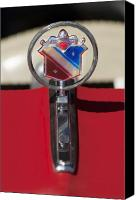 Blue Buick Canvas Prints - 1975 Buick Park Avenue Hood Ornament Canvas Print by Jill Reger