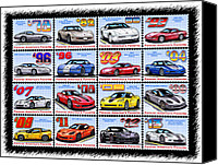 Special Edition Canvas Prints - 1978 - 2013 Special Edition Corvette Postage Stamps Canvas Print by K Scott Teeters
