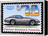 Special Edition Canvas Prints - 1978 Silver Anniversary Edition Corvette Canvas Print by K Scott Teeters