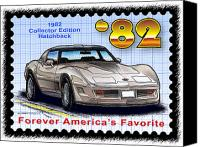 Special Edition Canvas Prints - 1982 Collector Edition Hatchback Corvette Canvas Print by K Scott Teeters
