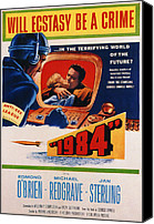 1956 Movies Canvas Prints - 1984, Jan Sterling, Edmond Obrien, 1956 Canvas Print by Everett