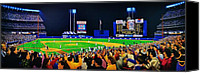 Shea Stadium Painting Canvas Prints - 1986 World  Series at Shea Canvas Print by T Kolendera