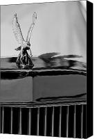 Antique Automobiles Canvas Prints - 1986 Zimmer Golden Spirit Hood Ornament 4 Canvas Print by Jill Reger