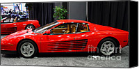 1987 Canvas Prints - 1987 Ferrari Testarossa . 7D9399 Canvas Print by Wingsdomain Art and Photography