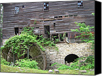 Old Mills Canvas Prints - 19th Century Flour Mill Canvas Print by Don Struke