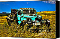 Chevrolet Canvas Prints - 1940s Chevy Truck Canvas Print by Camille Lyver
