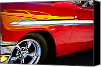 Custom Grill Canvas Prints - 1956 Chevy Bel Air Custom Hot Rod Canvas Print by David Patterson
