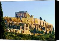 Acropolis Canvas Prints - Acropolis Canvas Print by Ellen Henneke