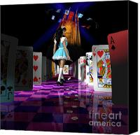 Hall Way Canvas Prints - Alice in Wonderland Canvas Print by Oleksiy Maksymenko