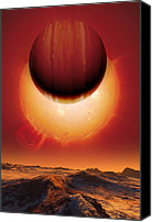 Planetary Canvas Prints - Alien Planetary System, Artwork Canvas Print by Detlev Van Ravenswaay