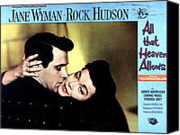 1955 Movies Canvas Prints - All That Heaven Allows, Rock Hudson Canvas Print by Everett
