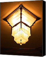 Marquette Digital Art Canvas Prints - Ambassador Hotel Light Fixture Canvas Print by Geoff Strehlow