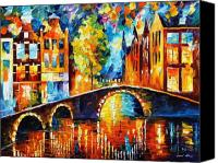 Afremov Canvas Prints - Amsterdam Canvas Print by Leonid Afremov