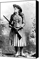 1890s Portrait Canvas Prints - Annie Oakley, Aka Phoebe Anne Oakley Canvas Print by Everett