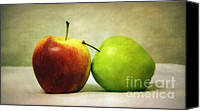 Digital Canvas Prints - Apples Canvas Print by Kristin Kreet