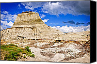 Unesco Canvas Prints - Badlands in Alberta Canvas Print by Elena Elisseeva