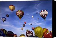 Balloon Fiesta Canvas Prints - Balloon Fiesta Canvas Print by Angel  Tarantella